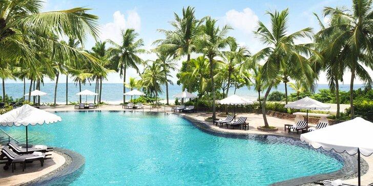 Exotický 5* resort na Srí Lance: 6–12 nocí, přelivový bazén, vířivka