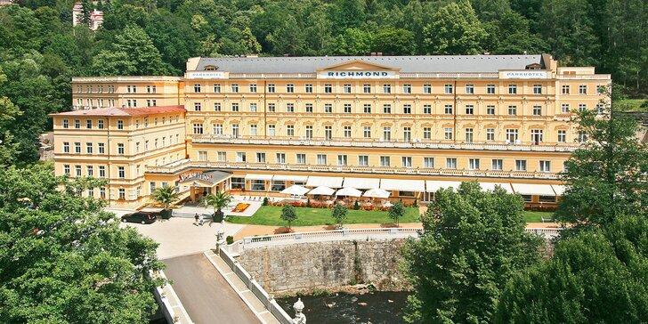 4* hýčkání v Karlových Varech: bazénové a wellness centrum i lázeňské procedury, snídaně či polopenze