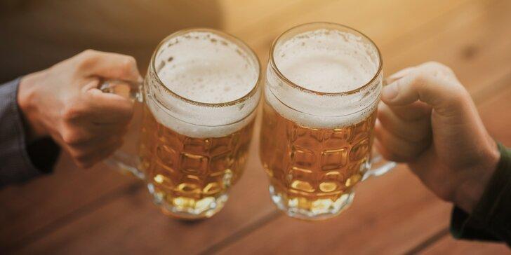 Pivo dle výběru s sebou: 1,5l lahev s originální etiketou nebo 30-50l sud