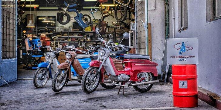 Pronájem legendární motorky Jawa Pionýr na 2, 6 nebo 12 hod.