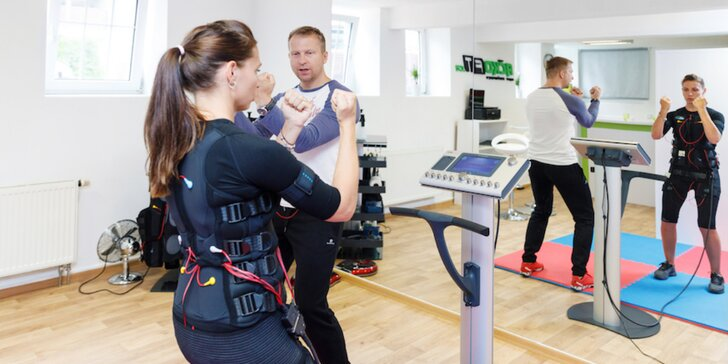 EMS trénink s trenérem: úvodní hodina a až 10 lekcí pro 1 i 2 osoby