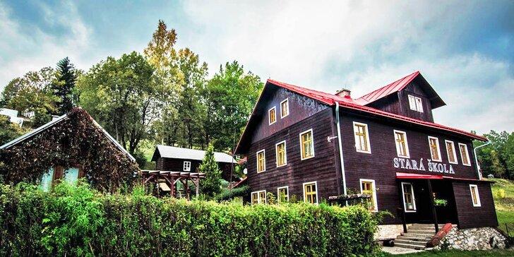 Krkonoše ve stylovém penzionu: pobyt s polopenzí poblíž Vrchlabí i Špindlu