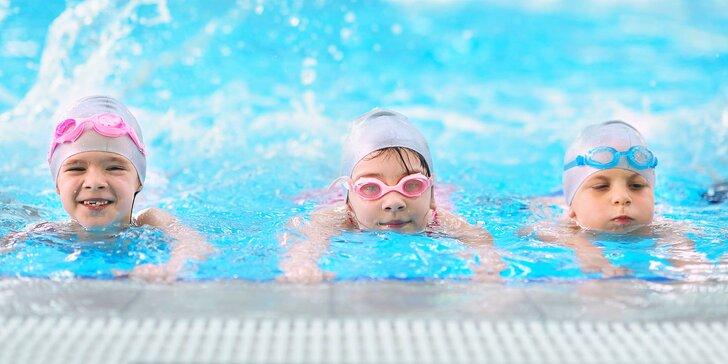 Kurzy plavání pro děti 4–12 let: 8 nebo 16 lekcí, pro plavce i začátečníky