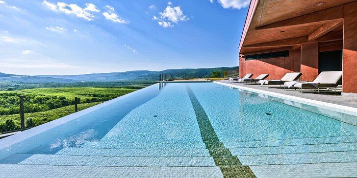 Romantika uprostřed istrijských vinic: krásný hotel s polopenzí, wellness a degustací vín