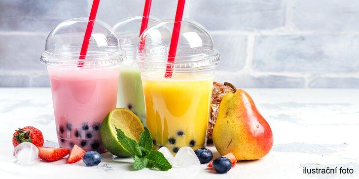 Letní fresh drink podle výběru: smoothie, džus, mléčný čaj nebo fresh tea