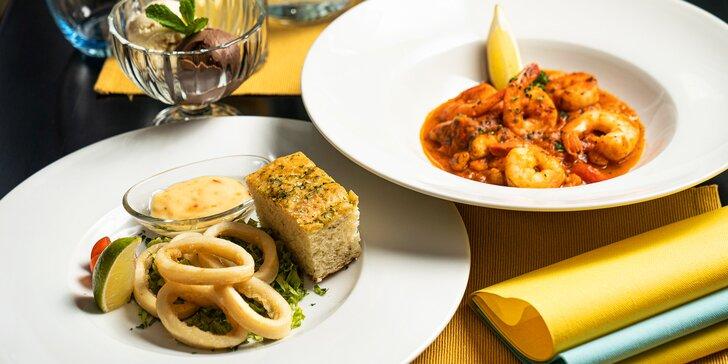 Středomořské delikatesy: degustační menu chutí moře pro 2 osoby
