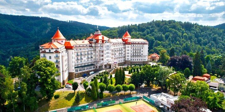 5* hotel Imperial v Karlových Varech: luxusní polopenze, neomezený wellness, 3 lázeňské procedury