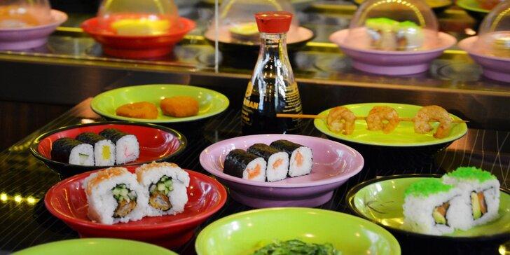 Running sushi: 2 hodiny neomezeného hodování pro 1 nebo 2 osoby či rodinu