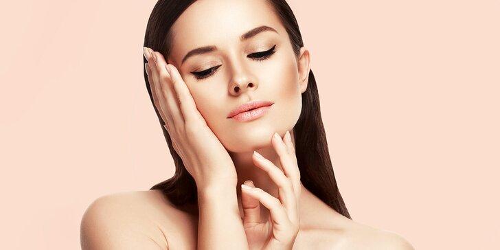 Kosmetické ošetření s kyselinou hyaluronovou, úprava řas a obočí i parafínový zábal na ruce