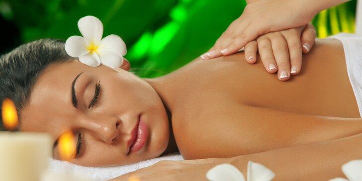 Dokonalá relaxace na hodinové masáži: thajská, olejová, bambusová či těhotenská