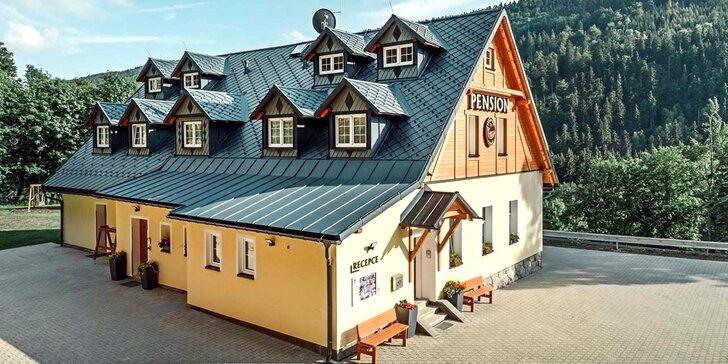 Apartmány ve stylovém penzionu v náruči Krušných hor se snídaněmi