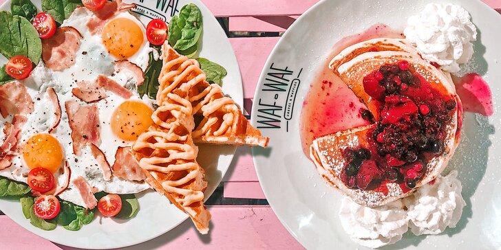 Sladká či slaná snídaně ve Waf Waf: palačinky, lívance a vaflové kostičky s Nutellou