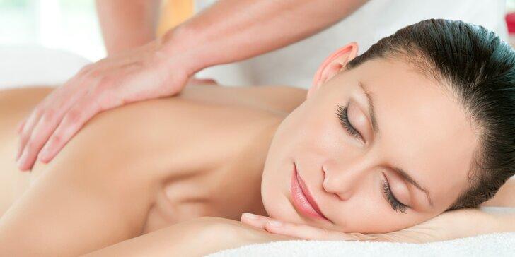 Regenerace v délce 60 minut: masáž dle vlastního výběru