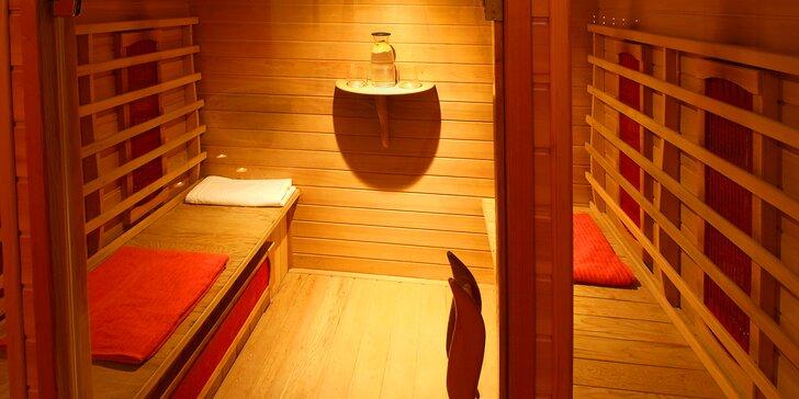 2 hod. privátního wellness pro dva v centru Ostravy: infra sauna, hydromasážní vana, aromaterapie, občerstvení