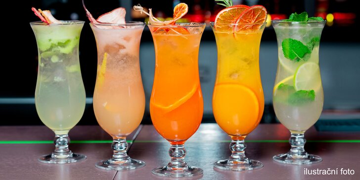 Připijte si na zdraví: jednou i dvakrát alko či nealko koktejl dle chuti, na výběr 12 druhů