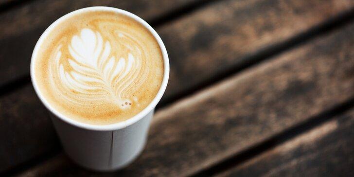 Horká káva podle výběru s sebou: americano, cappuccino a caffe latte