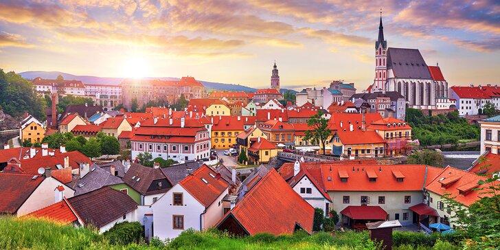 Za krásami jižních Čech: penzion u centra Krumlova, snídaně i večeře, vířivka