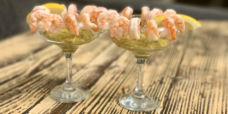 Krevety s guacamole i Aperol Spritz nebo Hugo Spritz pro jednoho i dva