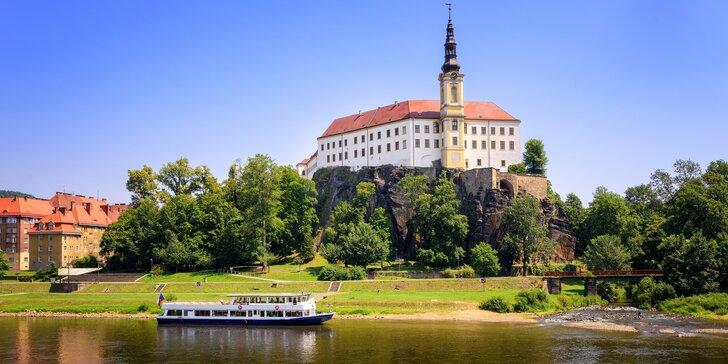 Odpočinek v Děčíně: hotel se snídaní či polopenzí i zábavou