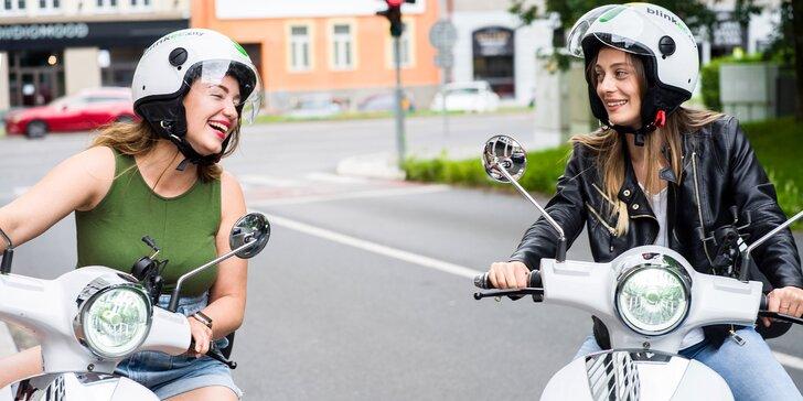 60, 120 i 240 volných minut jízdy na elektrickém skútru s aplikací blinkee.city