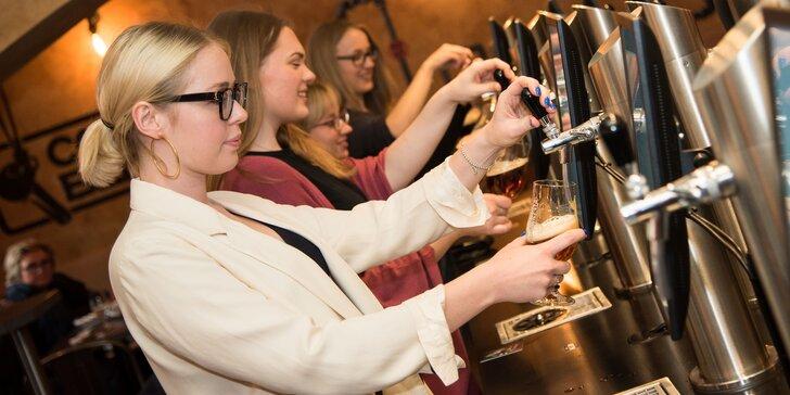 Otevřené vouchery na jídlo, degustaci piva i nealko v Beer point Prague