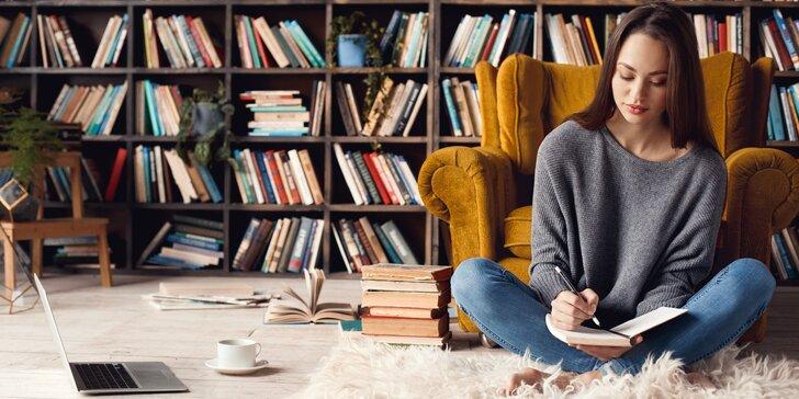 I vy můžete doma napsat knihu: online kurz tvůrčího psaní