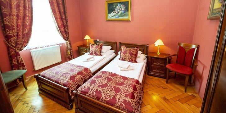 Prvorepublikový 4* hotel v Jičíně: 1–2 noci s jídlem, wellness i masáží