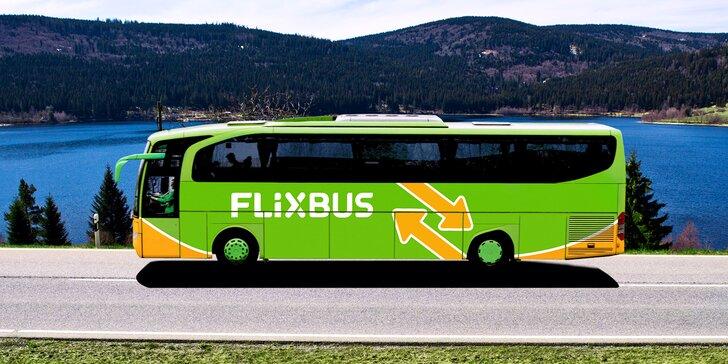 FlixBusem po ČR i Evropě: 15% sleva na spoje jedoucí přes ČR