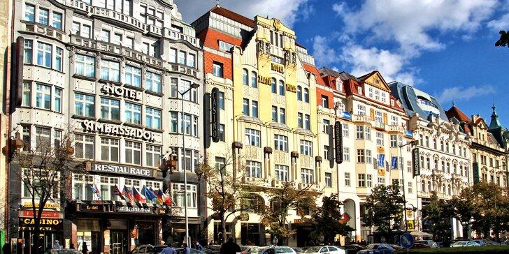 Pobyt v 5* hotelu v centru Prahy: snídaně, láhev vína i varianta s masáží
