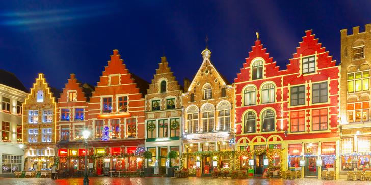 Zažijte vánoční atmosféru belgických měst: Bruggy se zastávkou v Bruselu