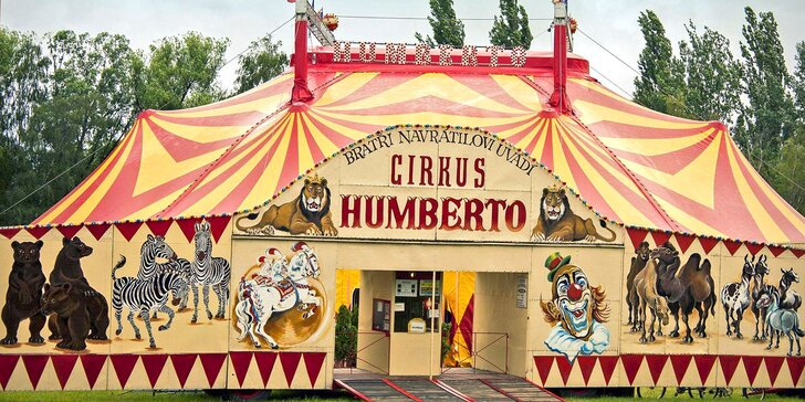 Hurá do Cirkusu Humberto na zbrusu novou show: akrobati, klauni i exotická zvířata v Strakonicích