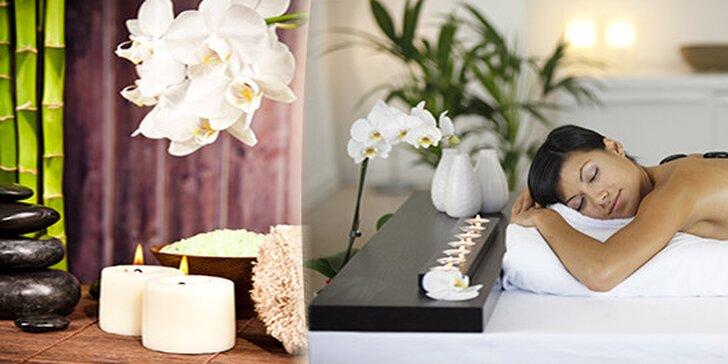 Masáž pro dva- Lávové kameny s klasickou masáží se závěrečným zábalem