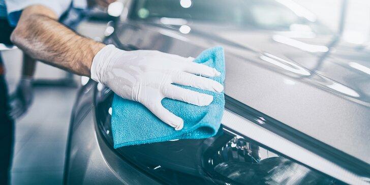 Čištění interiéru a exteriéru auta včetně opravy a strojního leštění laku