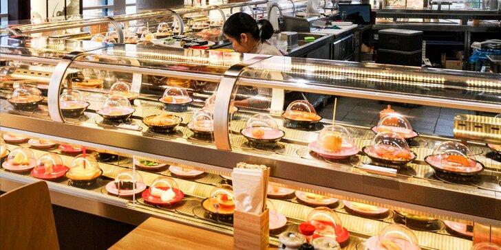 Running sushi ve všední dny: 2 hod. all you can eat v OC Stromovka pro 1 osobu