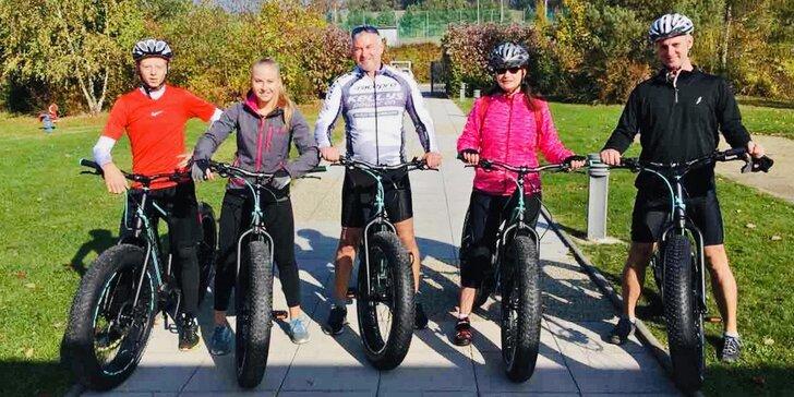 Pohodová jízda: zapůjčení elektrického Fat Biku na 2 nebo 5 hod. pro jednoho