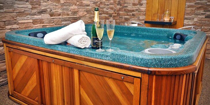 Romantika pro dva: privátní wellness se saunou, vířivkou i láhví sektu