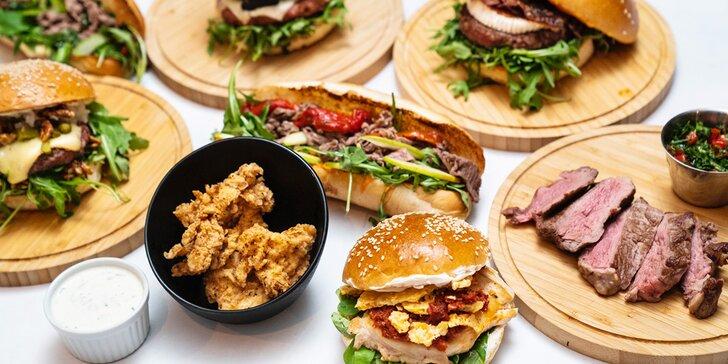 The Craft na Míráku: burgery a sendviče s českým masem včetně hranolků