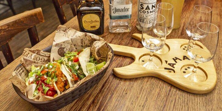 Mexiko v Jámě: výběr z tacos a ochutnávka tequily pro jednu i dvě osoby