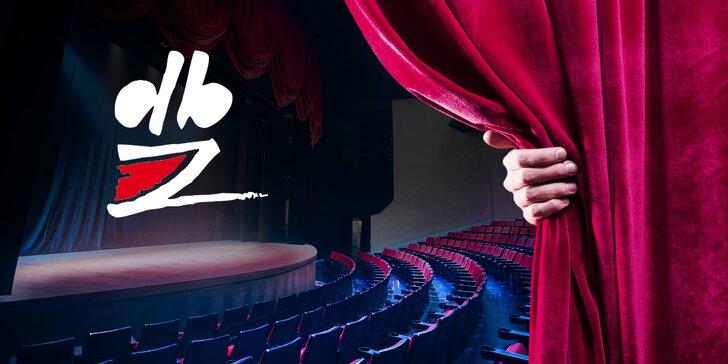 2 vstupenky na vybraná představení Divadla Bez zábradlí s 20% slevou