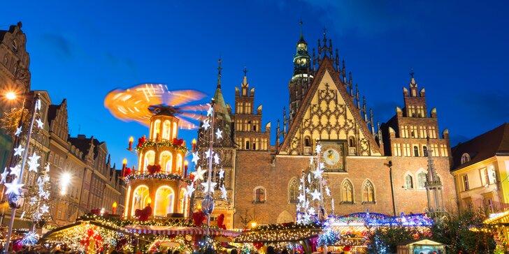 Výlet do předvánoční Wroclavi: odjezd ze Zlína, Fryštáku, Holešova či Ostravy