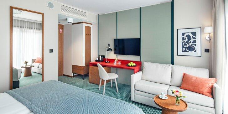 Dovolená v centru Vratislavi: moderní hotel, relax zóna se suchou saunou a fitkem, snídaně