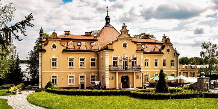 Romantický pobyt na zámku Berchtold: snídaně, wellness i lahev vína