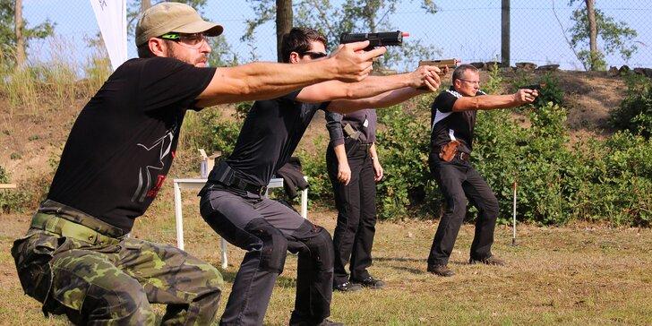 7hodinový kurz sebeobranné střelby pro začátečníky i mírně pokročilé