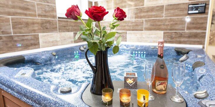 Relaxačnní pobyt v moderním apartmánu s vířivkou pro páry i rodiny