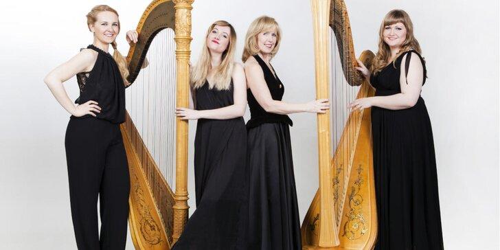 Slavnostní koncert pro 4 harfy v Emauzském opatství