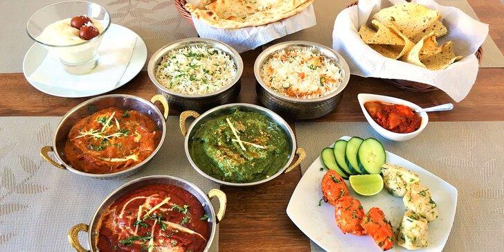 Chuť Indie: masové nebo vegetariánské degustační menu pro 2 osoby