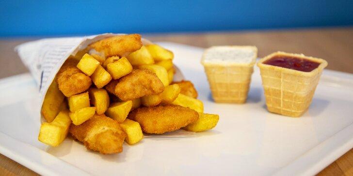 Dobrota z moře: fish & chips z restaurace Nordsee pro 2 osoby