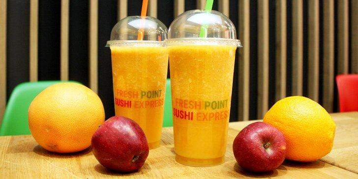 Vitamínová bomba: 2 malé nebo velké ovocné fresh džusy