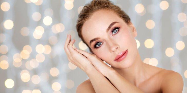 70minutové kompletní kosmetické ošetření pleti pro zářivou pleť