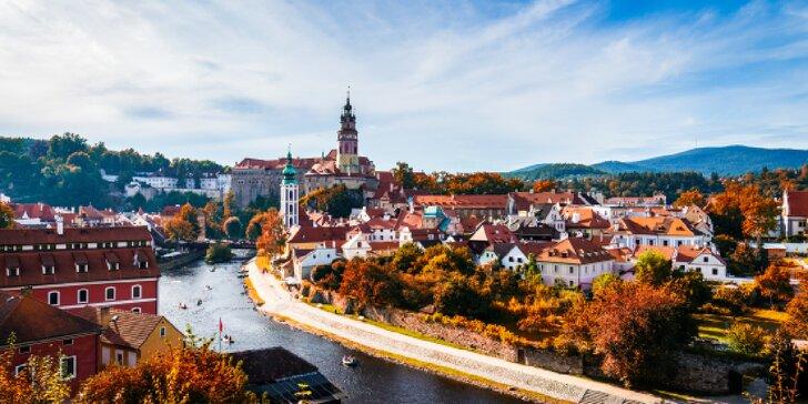 Pohádka v Českém Krumlově: pobyt v centru krásného města třeba i se sektem na pokoji
